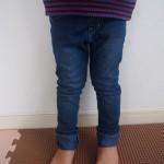 お値段以上の満足感!デニムレギンスを子供服の定番アイテムにしています。