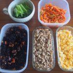 フライパンひとつで!お昼ご飯のついでに、5種類の作り置きを作りました。